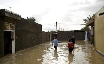 وقوع سیل و آبگرفتگی در لامرد فارس