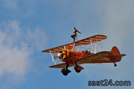 سوار بر بال هواپیما