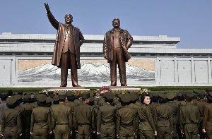 (تصاویر) جشن و پایکوپی روز خورشید در کره شمالی