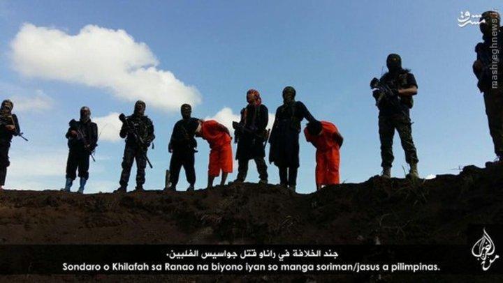 سر بریدن دو فیلیپینی توسط داعش + تصاویر