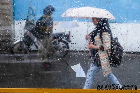 بارش رگباری در شمال تهران