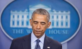 باراک اوباما در حال خواندن بیانیه در مورد کشتار در کلوپ همجنسگرایان در اورلاندو