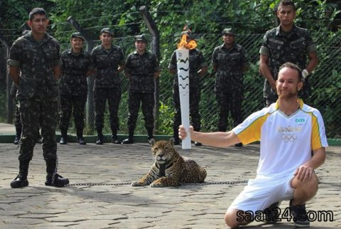ماجرای کشتن یوزپلنگ در مراسم حمل مشعل المپیک 2016 ریو