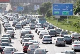 ترافیک کرج چالوس تهران