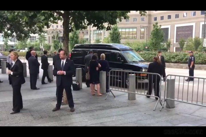 فیلم غش کردن هیلاری کلینتون