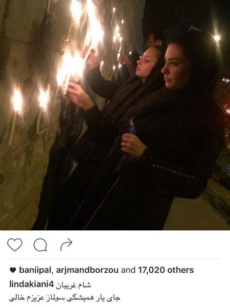 عکس/بازیگر زن معروف در شب شام غریبان