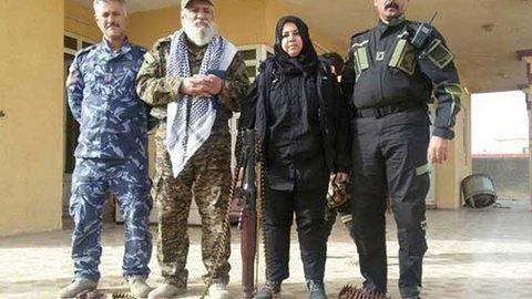 نبرد بانوی شجاع عراقی با داعش! + عکس