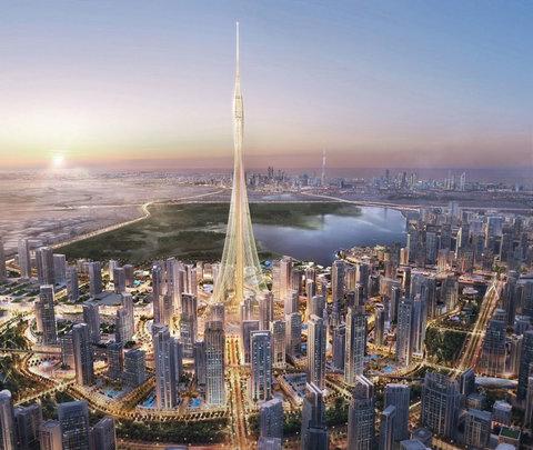(تصاویر) ساخت بلندترین آسمان خراش جهان شروع شد