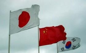 پرچم ژاپن و کره