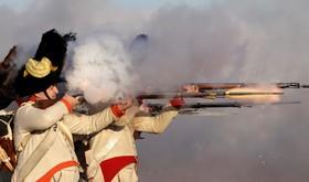 صحنه ای از بازسازی جنگ اوسترلیتز ناپلئون در جمهوری چک