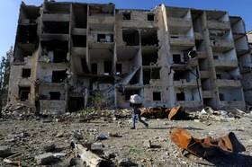 نمایی از شهر حلب پس از ورود نیروهای دولتی به مناطق آزاد شده