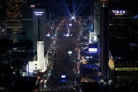 تظاهرات علیه رئیس جمهوری کره در سئول