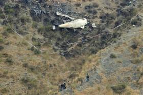 محل سقوط هواپیمای مسافری پاکستان در ارتفاعات سدها در ابوت آباد