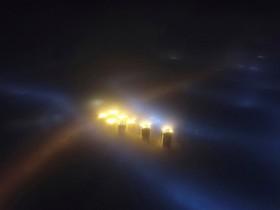 نمایی از هوای آلوده شهرتینجیان در چین