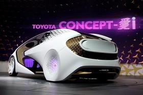 آخرین دستاورد های فناوری های نوین:خودرو هوشمند تویوتا که به عنوان نمونه ساخته شده و در نمایشگاه لاس وگاس عرضه شده است