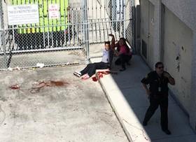 صحنه ای پس از حادثه تیراندازی در فرودگاهی در فلوریدا