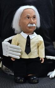 ربات آلبرت انشتین در نمایشگاه تجهیزات الکترونیکی در لاس وگاس