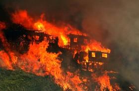 آتش سوزی در والپراسو شیلی در نیم کره جنوبی در اثر گرما