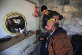 رونق ریش تراشی در موصل پس از داعش در شهرک القدس در حومه موصل