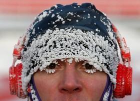پس از یک ورزش زمستانی در کراسنویرسک روسیه