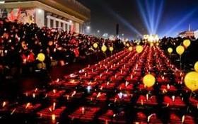 جلیقه های نجات در یادبود کشته شدگان در حدثه غرق کشتی تفریحی در سئول کره در سال 2014