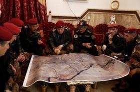 جلسه فرماندهان نظامی عراقی برای جنگ در موصل علیه داعش