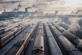 ایستگاه راه آهن یاروسلاوسکی در مسکو روسیه