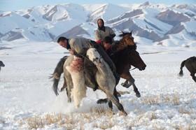 مسابقه بزکشی در منطقه اویغور نشین  خینچانگ در چین