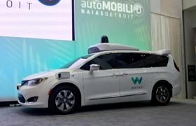 نمایشگاه خودرو دیترویت:ماشین کرایسلری که توسط وایمو خودراننده شده است