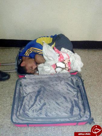 فراری دادن شوهر زندانی در چمدان