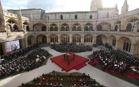 مراسم تشییع جنازه ماریوسوارز رئیس جمهوری سابق پرتغال در لیسبون پرتغال