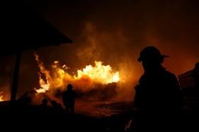 آتش سوزی جنگل در سانتا اولگا در شیلی