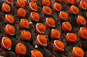 رژه نیروهای نظامی هند در روز جمهوری