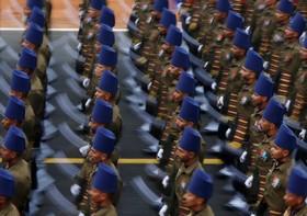 رژه نیروهای نظامی هند به مناسبت روز جمهوری