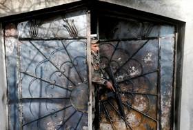 یک سرباز عراقی در موصل