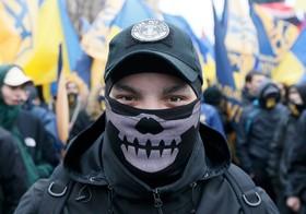 تظاهرات گروه های ملی گرا در اوکراین