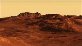 دیده شدن نور مرموز برروی مریخ! عکس