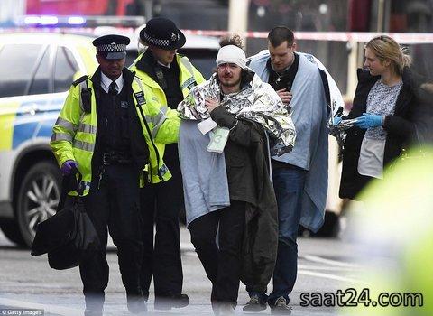 (تصاویر)حمله یک فرد با چاقو به پارلمان انگلیس در لندن