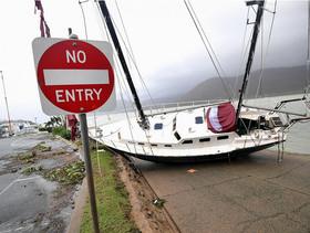 بخشی از خرابی های توفان دبی در کوئینزلند در استرالیا
