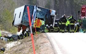 حادثه برای اتوبوس حامل دانش آموزان عازم اسکی در سوئد که کشته ای نداشت