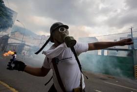 تظاهرات مخالفان در کاراکاس در ونزوئلا
