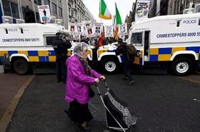 تظاهرات کهنه سربازان انگلیسی که در ایرلند شمالی خدمت کرده اند برای در اعتراض به رسیدگی به تخلفات ناشی از خدمتشان و رسیدگی به زندگی شان