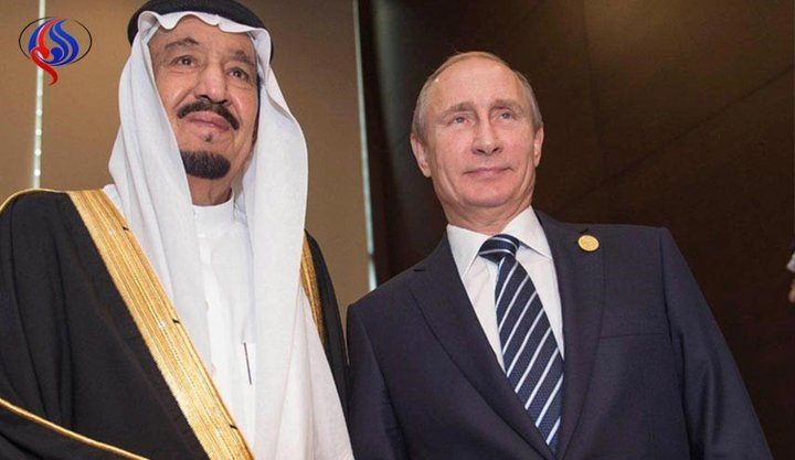 ملک سلمان و پوتین