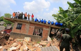 تخریب ناشی از رانش مرکز انبار زباله در سریلانکا