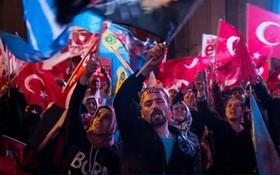 تظاهرات حامیان اک پارتی در ترکیه