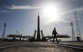 یک سایوز در حال آماده سازی برای سفر به ایسگاه فضایی بین المللی