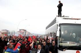 اردوغان پس از رفراندوم قانون اساسی در حال بازگشت به آنکارا
