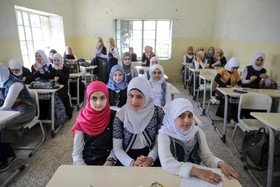 یک مدرسه در موصل که به تازگی تشکیل شده است