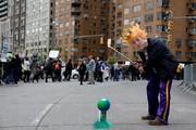 (تصاویر)تظاهرات به مناسبت روز زمین و حمایت از علم و اعتراض به ترامپ