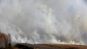 آتش سوزی در اطراف کراسنویرسک در روسیه